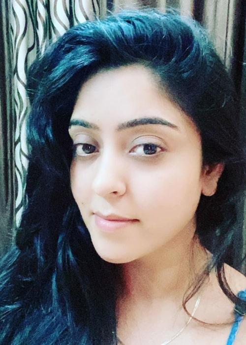 Shubhi Sharma as seen in a selfie that was taken in July 2020