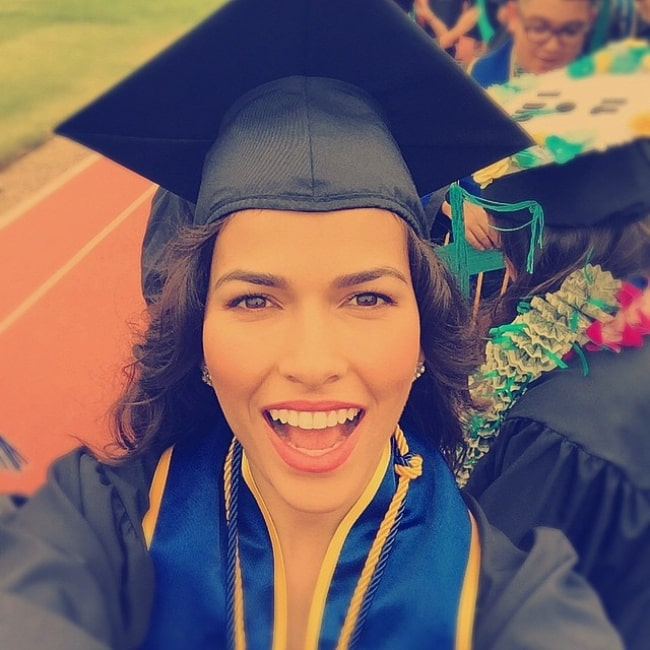 Sofia Pernas after officially graduating in June 2015