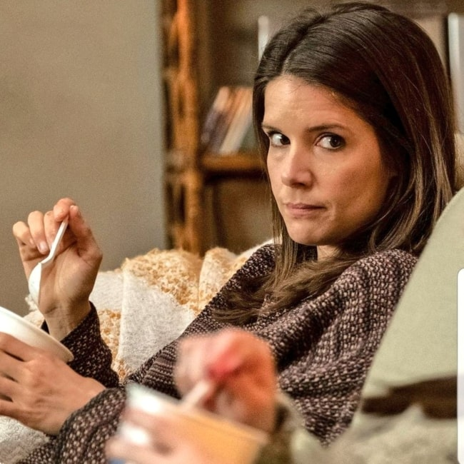 Sonya Cassidy as seen in a screenshot of a scene of her on the TV series of Lodge 49 in October 2019