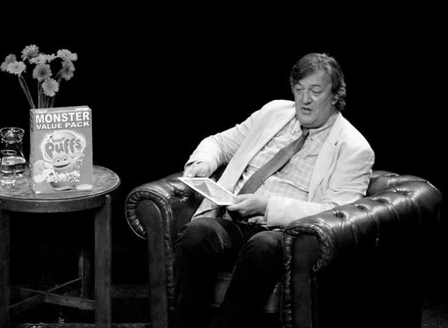 Stephen Fry seen at the BorderKitchen literary event in 2011