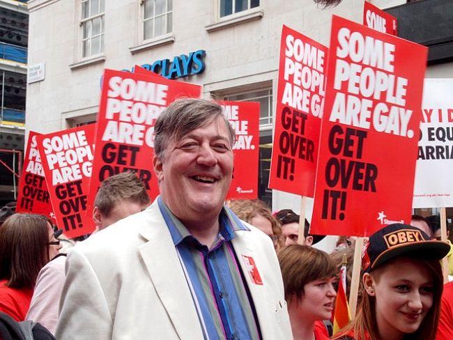 Stephen Fry seen attending London's WorldPride in 2012