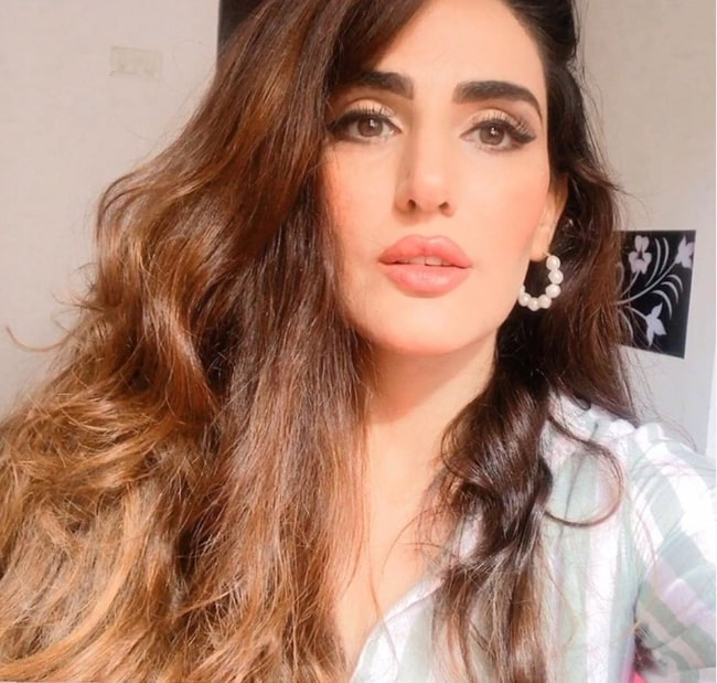 Sudeepa Singh as seen while taking a glammed-up selfie in April 2020