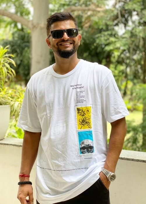 Suresh Raina as seen while smiling for a picture in July 2020