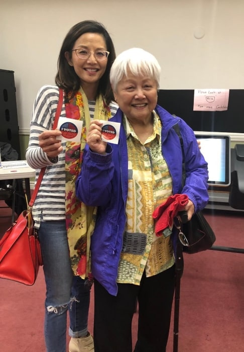 Tamlyn Tomita in March 2020 encouraging everyone to vote