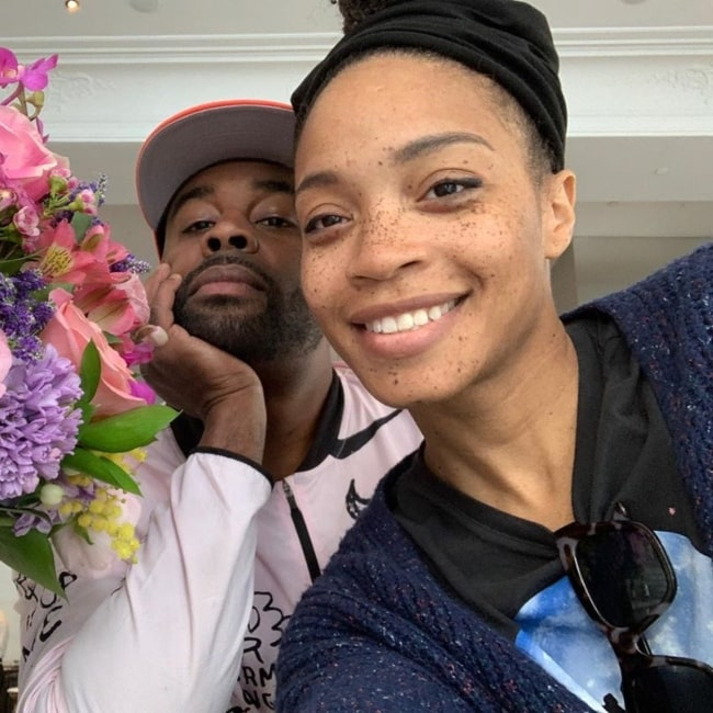 Tobie Windham as seen in a selfie taken with his beau Shinelle Azoroh in March 2020