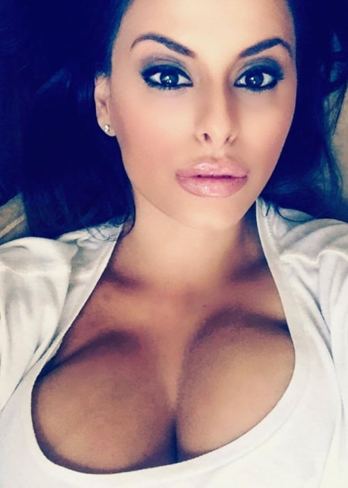 Wendy Fiore as seen in a selfie of herself that was taken in the past
