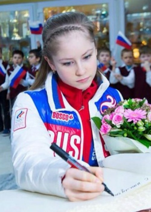 Yulia Lipnitskaya as seen in an Instagram Post in March 2015