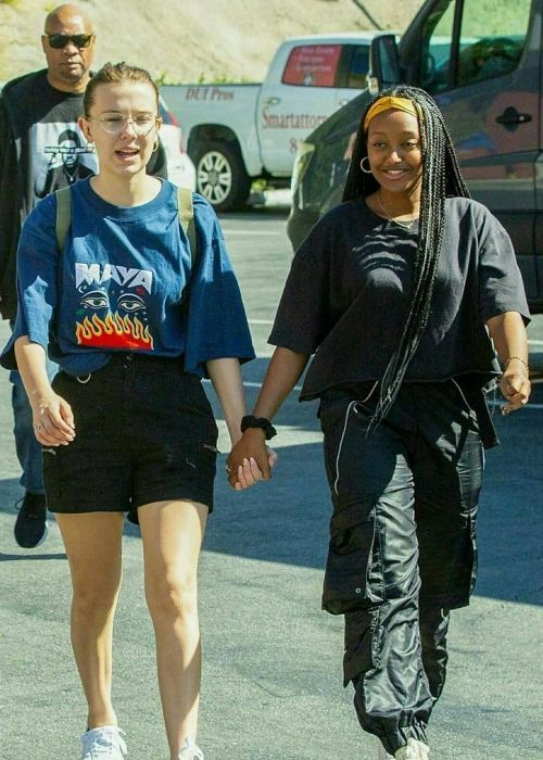 Zahara seen holding hands with Millie Bobby Brown in 2019