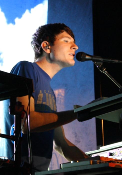 Adam Young performing at the Bowery Ballroom in 2009