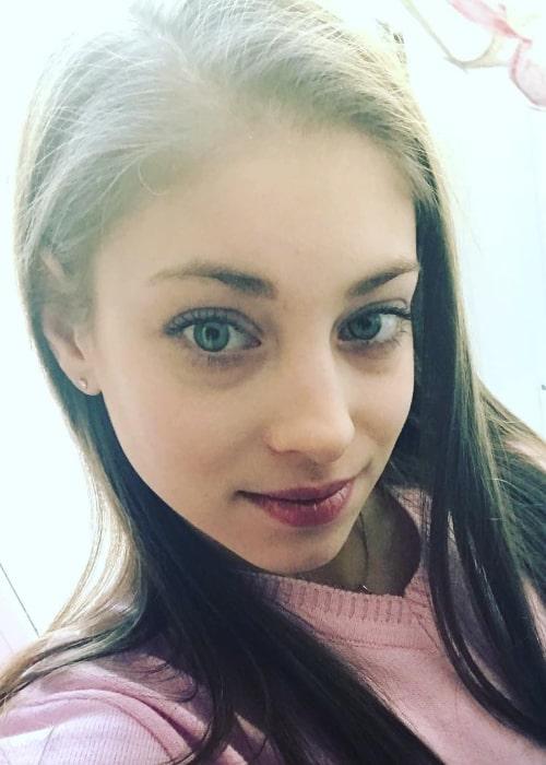 Alena Kostornaia in an Instagram selfie from March 2018