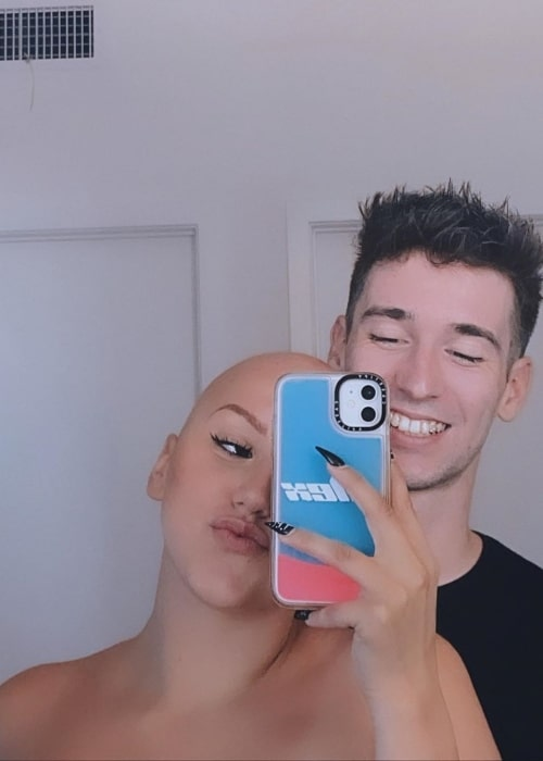 Alex Youmazzo as seen in a selfie that was taken with her beau Ethan Grey in July 2020
