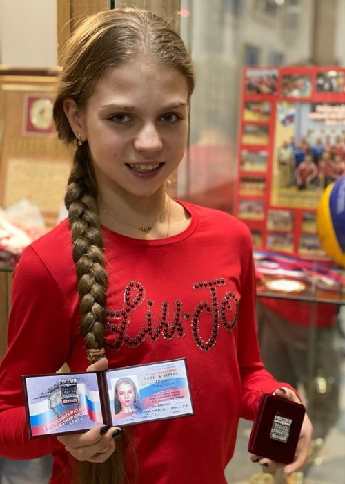 Alexandra Trusova as seen in an Instagram Post in December 2019