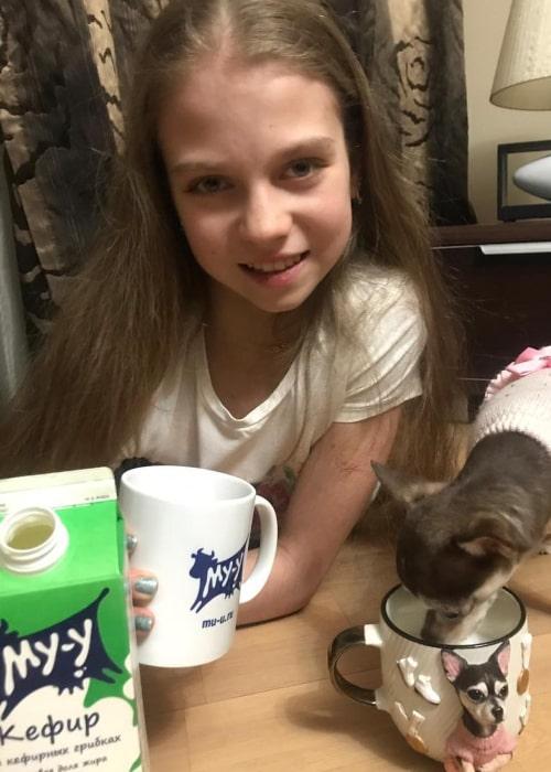 Alexandra Trusova as seen in an Instagram Post in January 2019