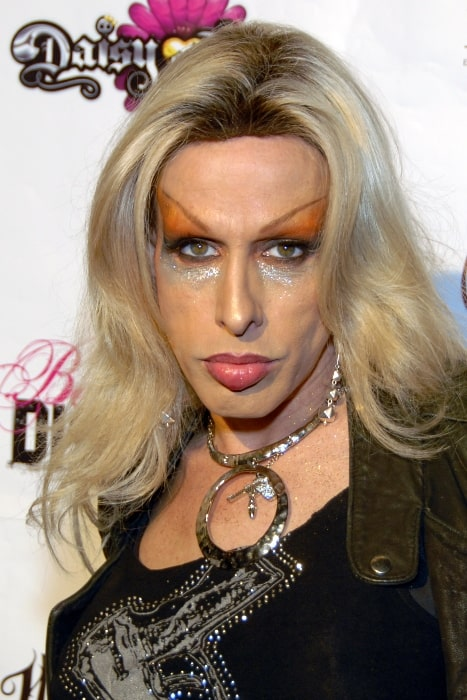 Alexis Arquette pictured at VH1's 'Daisy of Love' premiere party at My House, Hollywood, California in April 2009