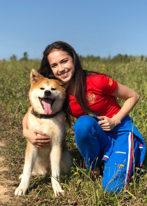Alina Zagitova as seen in an Instagram Post in September 2018