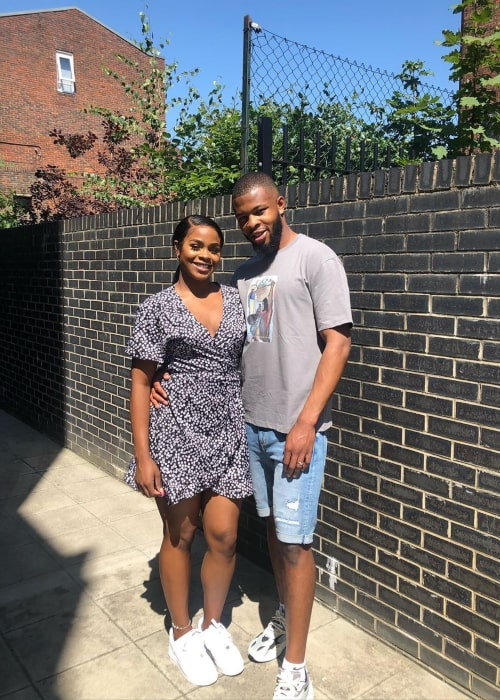 Aliyah Maria Bee and Taofiq Olomowewe, as seen in August 2020