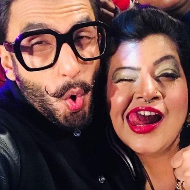 Ambika Ranjankar as seen in a selfie that was taken in he past with actor Ranveer Singh