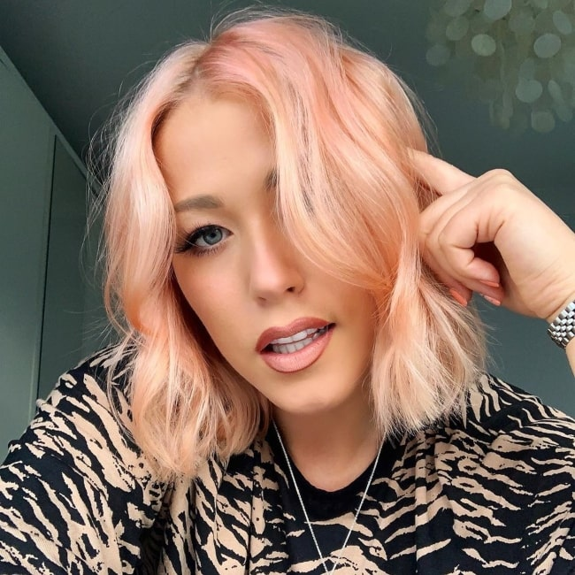 Amelia Lily as seen in a selfie that was taken in August 2020
