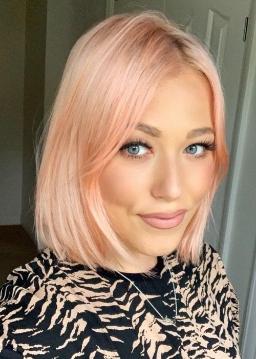 Amelia Lily as seen in a selfie that was taken in June 2020