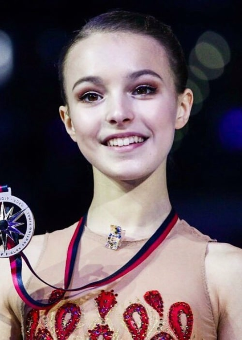 Anna Shcherbakova as seen in an Instagram Post in December 2019