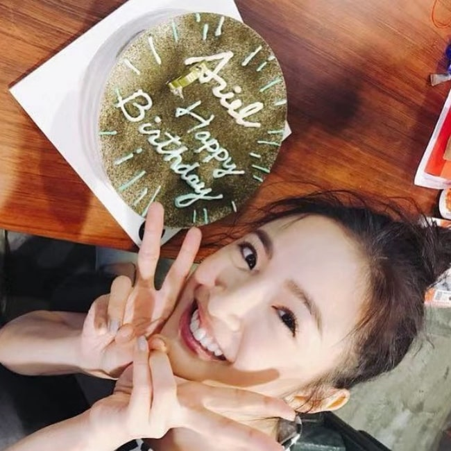 Ariel Lin as seen in a picture that was taken on the day of her birthday on October 29, 2019