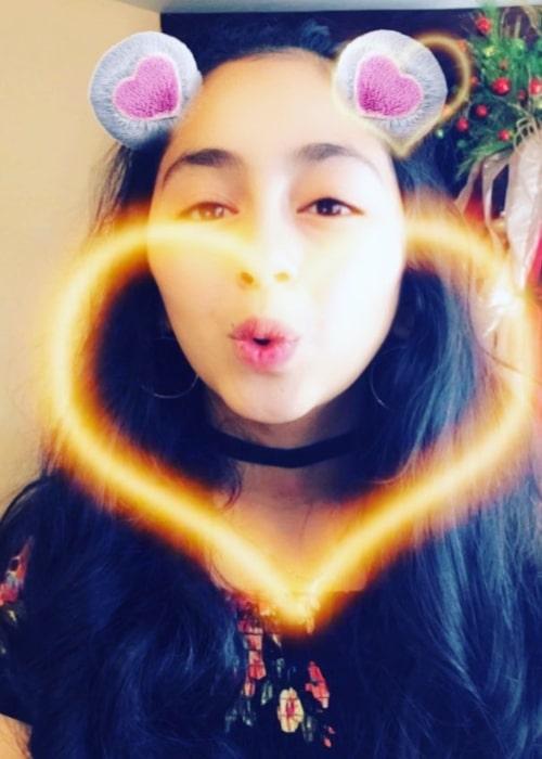 B2cutecupcakes as seen in a selfie that was taken in December 2017