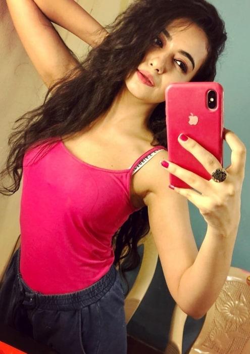 Bhoomika Mirchandani sharing her candid selfie in August 2020