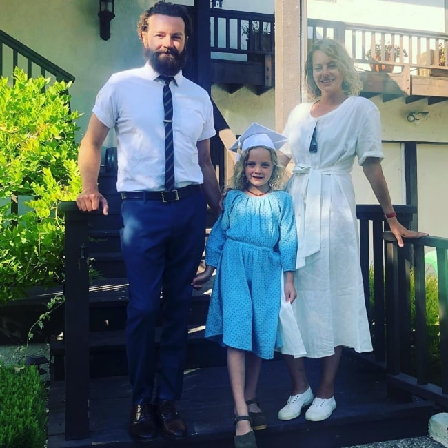Bijou Phillips with her family in June 2020