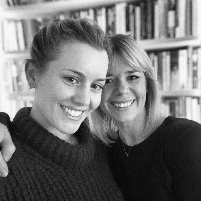 Caggie Dunlop (Left) as seen while smiling for a selfie alongside Ruby Warrington