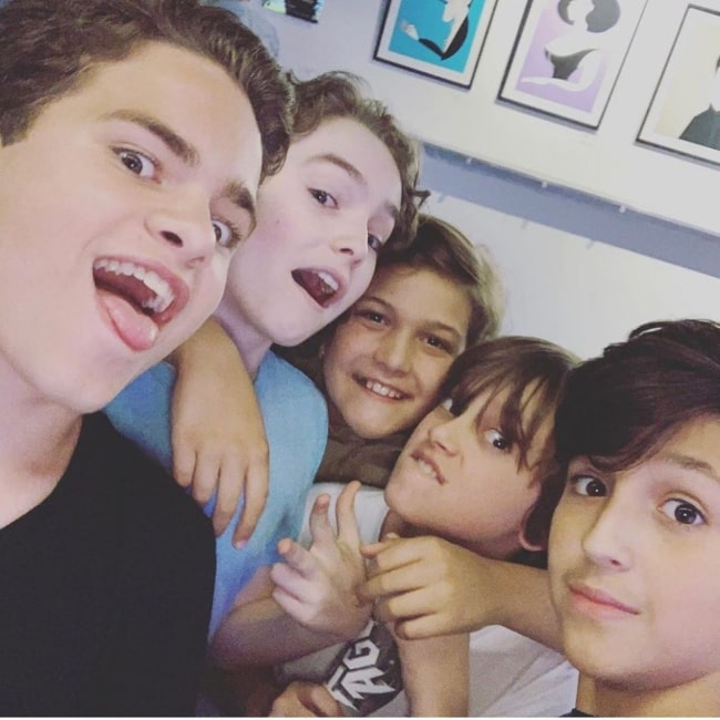 Christopher Convery with his friends in September 2019