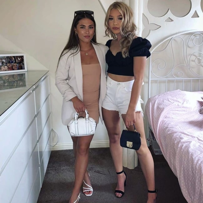 Danielle Harrison as seen in a picture that was taken with her friend Anastasia Kristina Vaipan-Law in Dundee in August 2020