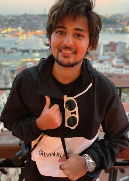 Darshan Raval as seen while posing for a picture at Galata Tower in Istanbul, Turkey