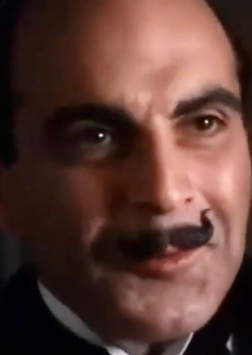 David Suchet playing Poirot in the TV episode The Third Floor Flat (1989)