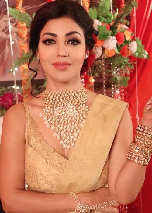 Debina Bonnerjee as seen while posing for the camera in 2020