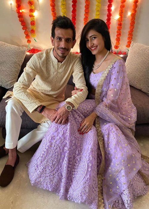 Dhanashree Verma and Yuzvendra Chahal, as seen after their engagement ceremony in August 2020