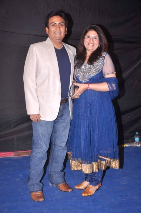 Dilip Joshi and his wife at Colors Indian Telly Award in June 2012