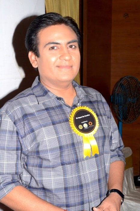 Dilip Joshi as seen while smiling for a picture during an event in May 2012