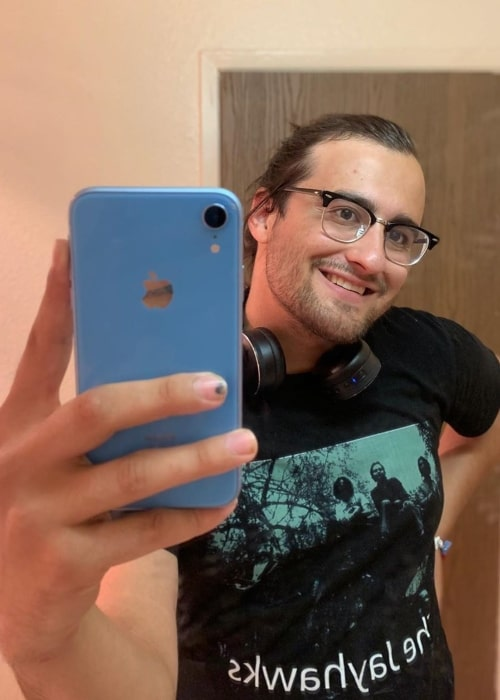 Drew Monson as seen in a selfie that was taken in June 2019