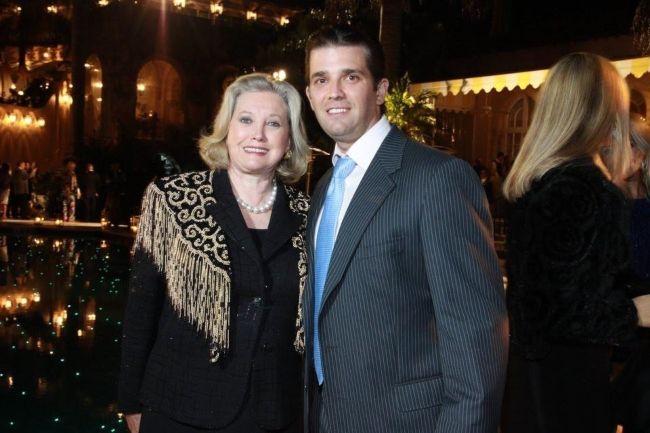 Elizabeth Trump Grau as seen posing with Donald Trump Jr.