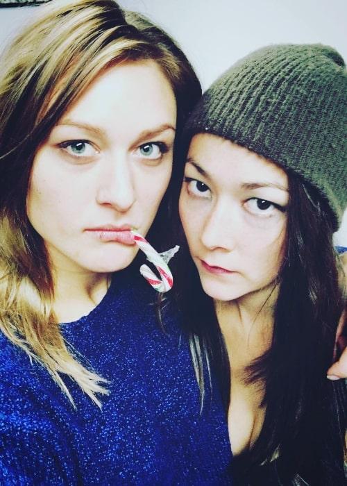 Emily Piggford (Right) as seen in a selfie alongside Alex Jade in November 2017