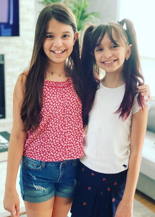Emily TwoSistersToyStyle and her sister Evelyn in a picture that was taken in Los Angeles, California in July 2020