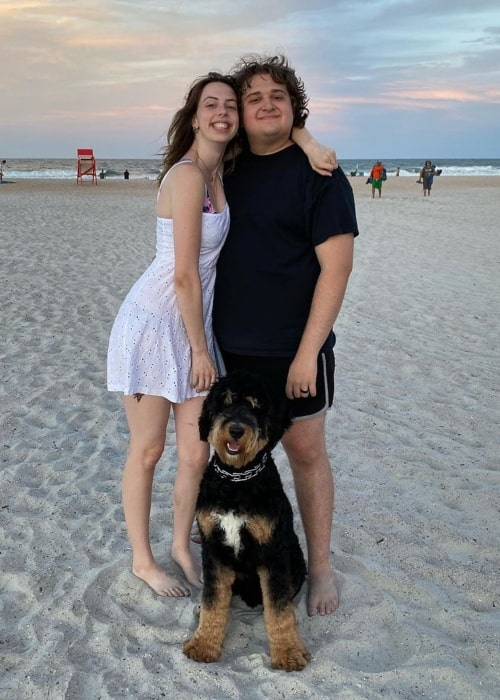 Emmyn Calleiro as seen in a picture that was taken his wife Dani Cimorelli and their dog Norman in St. Augustine, Florida in July 2020