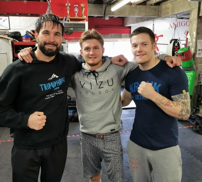 From Left to Right - Jamie Jewitt, Archie Sharp, and Lewis Dove as seen while posing for a picture at AmigosGym in November 2019