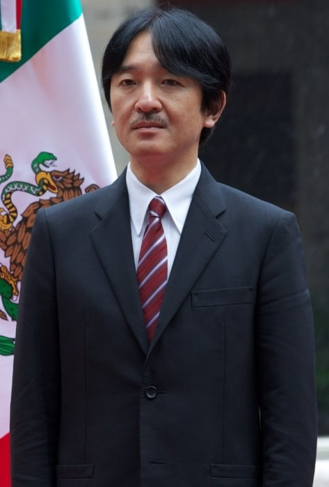 Fumihito, Prince Akishino pictured during his visit to México City in 2014