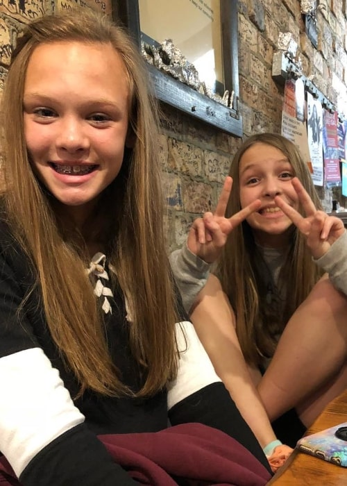 Hailey Greer as seen in a picture that was taken with her sister Macey Greer in November 2018