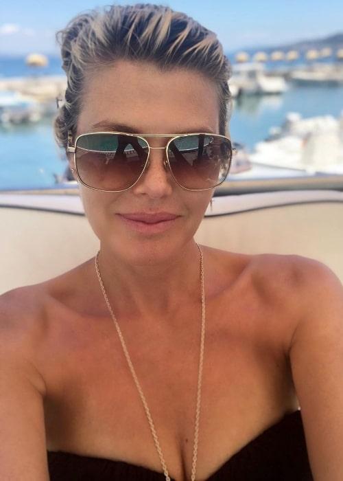 Ingrid Seynhaeve as seen while taking a selfie in July 2020