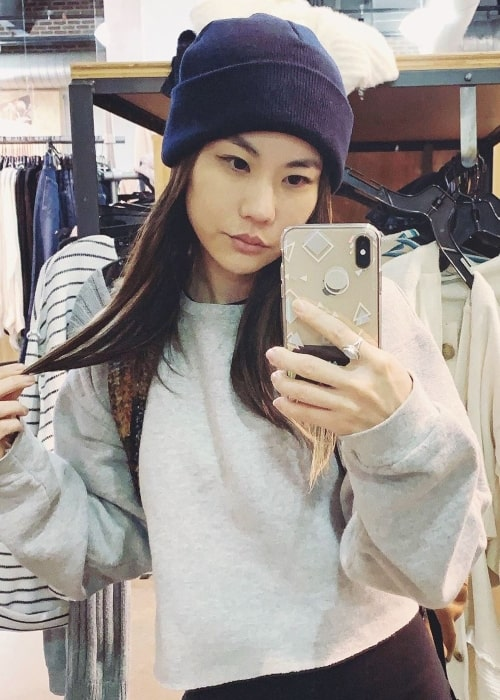 Irene Choi sharing an image of herself wearing a hat in September 2019