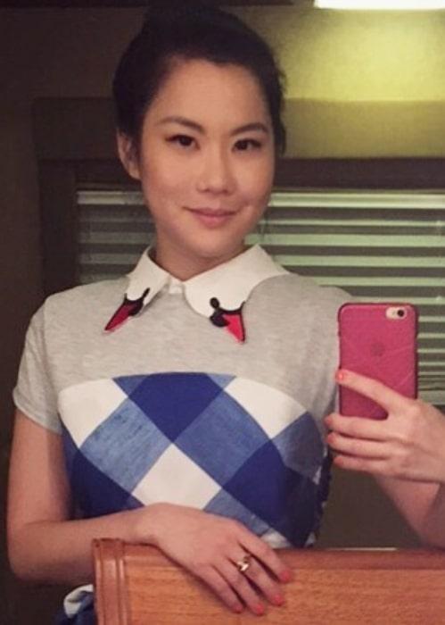 Irene Choi sharing her selfie in February 2018