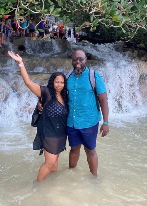 Ja Vonne Beard as seen in a picture taken with her husband Cleveland at Dunn's River Falls, Ochos Rios, Jamaica in December 2019