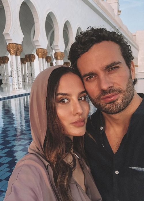 James as seen with Lucy Watson in Abu Dhabi in 2020